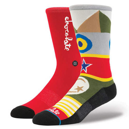 Stance Socks - Chocolate Flags - Red