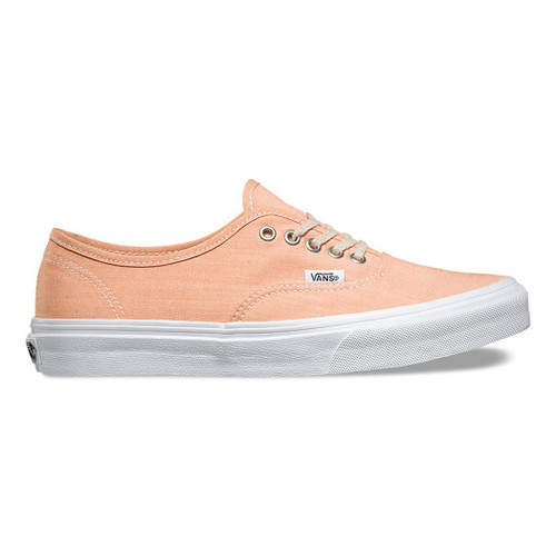 Vans Women's Shoes - Authentic Slim - Chambray Coral/Wht