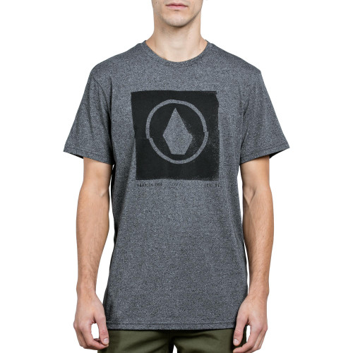 Volcom Tee Shirt - Chop Stone - Heather Black