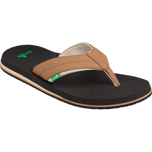 Sanuk Flip Flop - Beer Cozy 2 - Tan/Tobacco