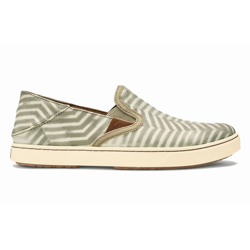 OluKai Women's Shoes - Pehuea Pa'I - Silt/Off White
