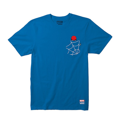 Vans Boy's Tee Shirt - Spiderman - Spiderman Blue