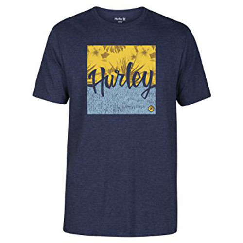 Hurley Tee Shirt - Dawn Tides - Obsidian Heather