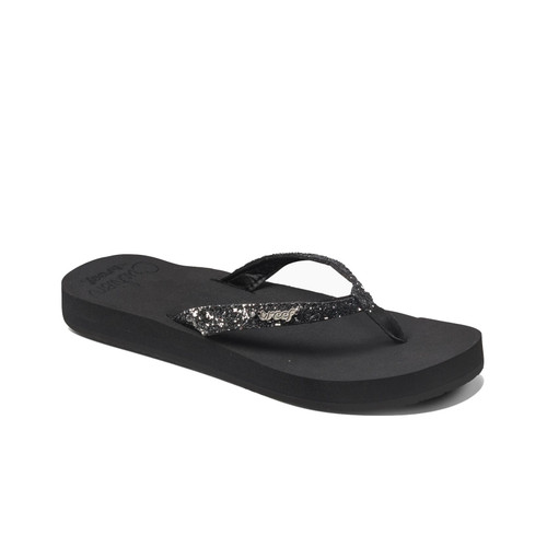 Reef Women's Flip Flops - Reef Star Cushion - Black/Gunmetal