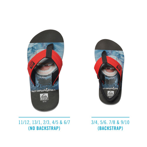 Reef Boy's Flip Flops - Grom Photos - Shark Smile