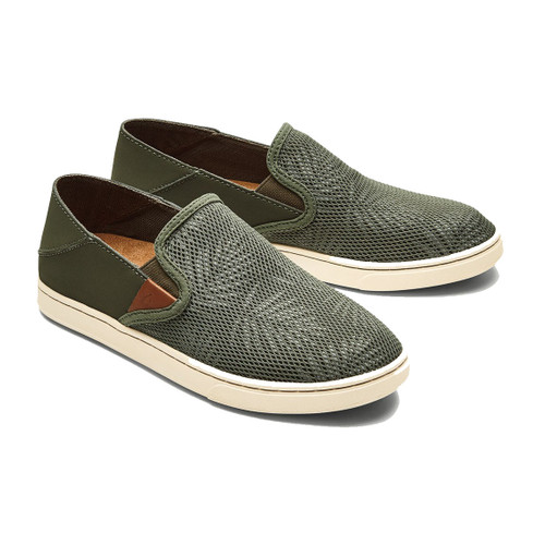 OluKai Women's Shoes - Pehuea - Dusty Olive/Palm
