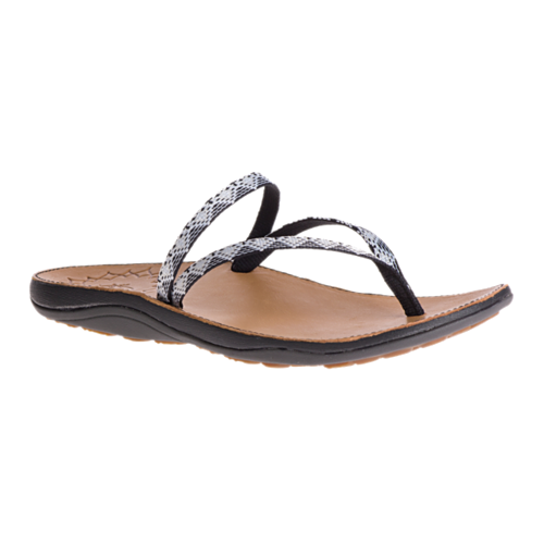 Chaco Women's Flip Flops - Abbey - Peaks Black/White