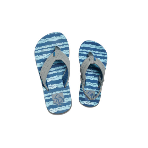 Reef Kid's Flip Flop - Ahi - Blue Grey Ocean