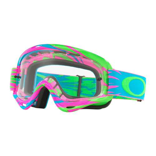 2420cb60e32 Oakley Youth MX Goggles - XS O Frame High Voltage - Pink Blue Clear ...