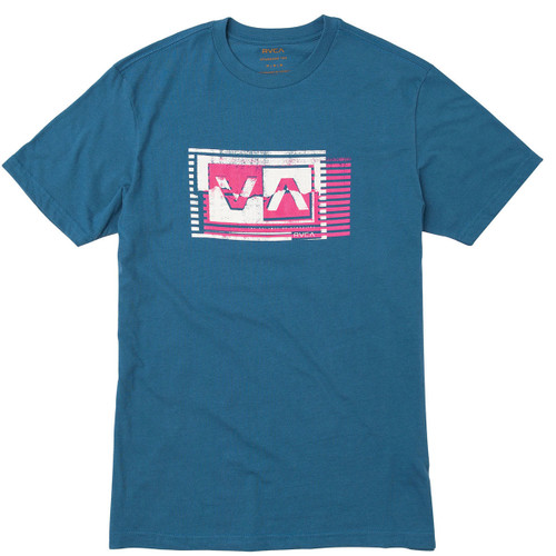 RVCA Boy's Tee Shirt - Copy Box - Bright Blue