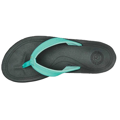 Olukai Women's Flip Flop - Punua Kia'I - Tropical Blue/Darkshadow