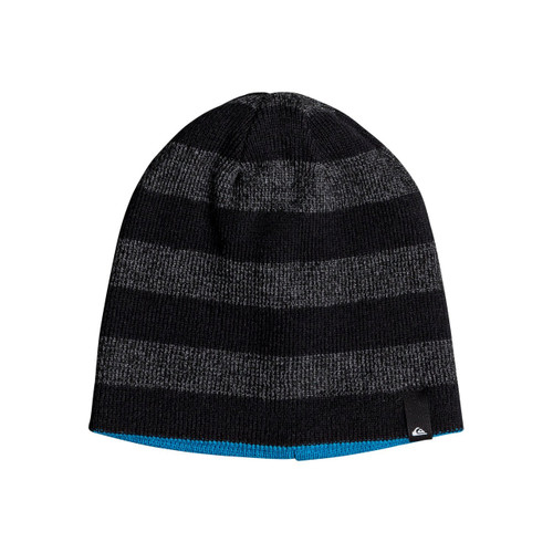 Quiksilver Youth Beanie - Reversible Stripe - Black