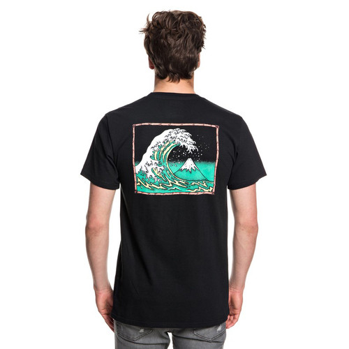 Quiksilver Tee Shirt - OG Mountain and Wave - Black