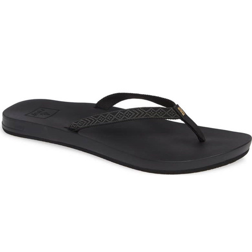 Reef Women's Flip Flops - Cushion Bounce Woven - Black
