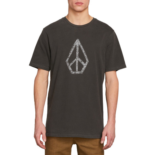 Volcom Tee Shirt - Peace Stone - Black