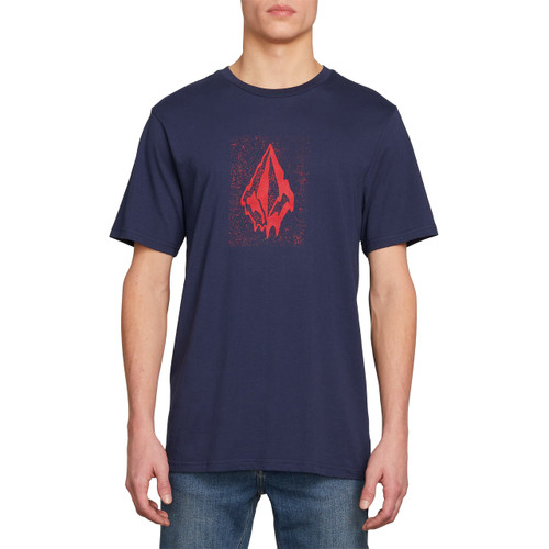 Volcom Tee Shirt - Drippin Out - Navy