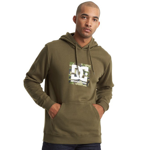 DC Hoody - Square Star - Fatigue Green/Camo