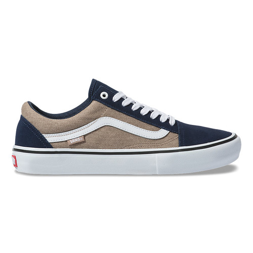 Vans Shoes - Old Skool Pro - Twill/Dress Blues/Portabella