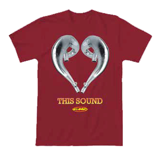FMF Tee Shirt - Love This Sound 2 - Red