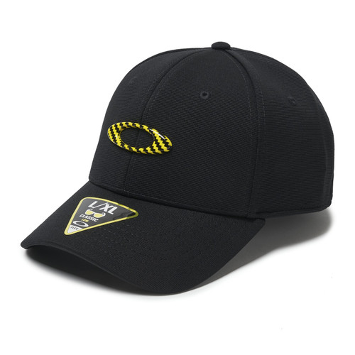 Oakley Hat - 6 Panel Stretch Tincan - Metal/Yellow