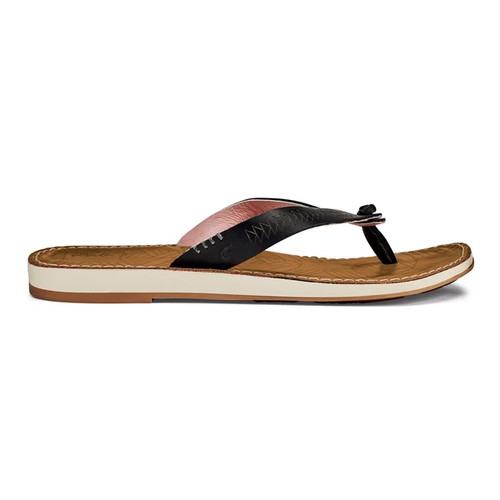 OluKai Women's Flip Flop - Hawai'iloa Kia Hope - Black/Golden Sand