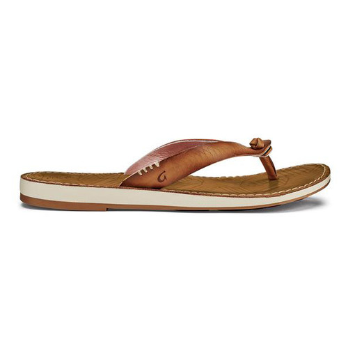 OluKai Women's Flip Flop - Hawai'iloa Kia Hope - Fox/Golden Sand