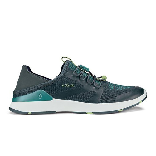 OluKai Women's Shoe - Miki Trainer - Iron/Mineral Blue