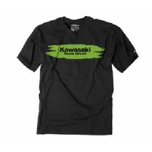 Factory Effex Boy's Tee Shirt - Kawasaki Team Green - Black