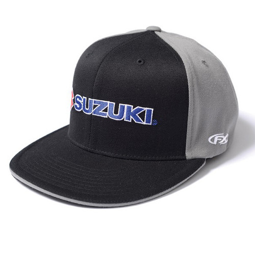 Factory Effex Hat - Suzuki - Black/Grey