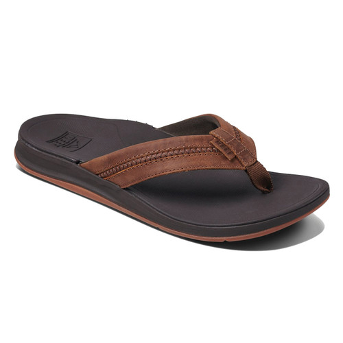 Reef Flip Flop - Leather Ortho-Bounce Coast - Brown