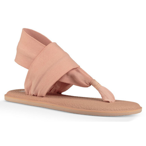 Sanuk Women's Flip Flop - Yoga Sling 2 Metallic LX - Spanish Villa/Metallic Rose Gold