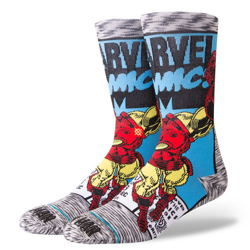 Stance Socks - Iron Man Comic - Grey