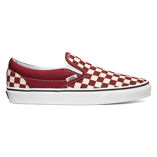 Vans Shoes - Classic Slip-On - Rumba Red/True White