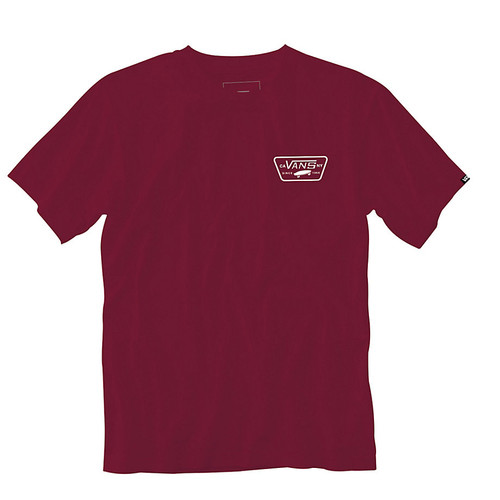 Vans Boy's Tee Shirt - Full Patch Back - Rhumba Red