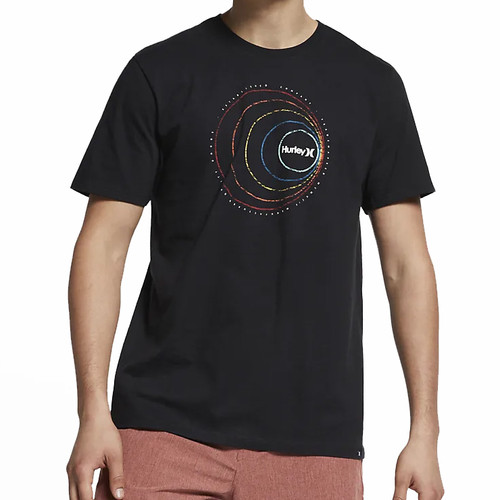 Hurley Tee Shirt - Round About - Black
