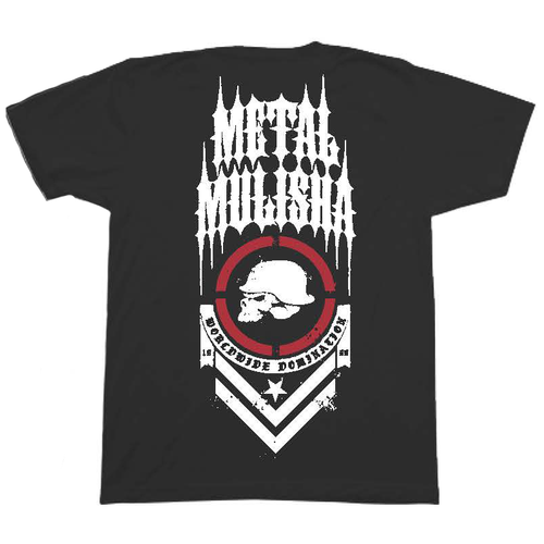 Metal Mulisha Tee Shirt - Spine - Black