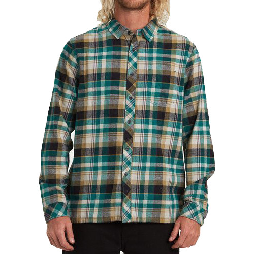 Billabong Shirt - Coastline Flannel LS - Emerald