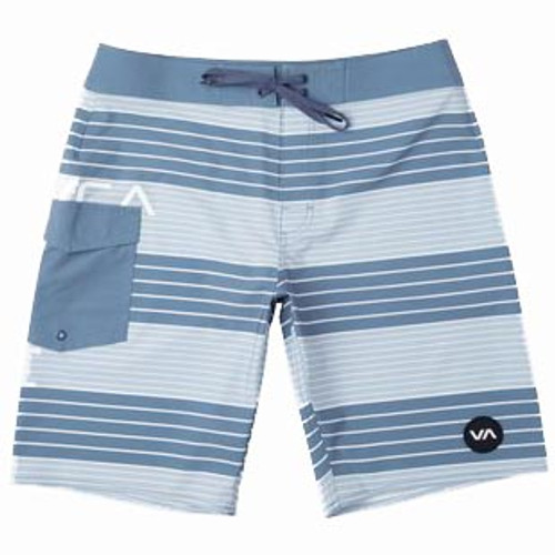 RVCA Boardshort - Uncivil Stripe - Blue Cruz