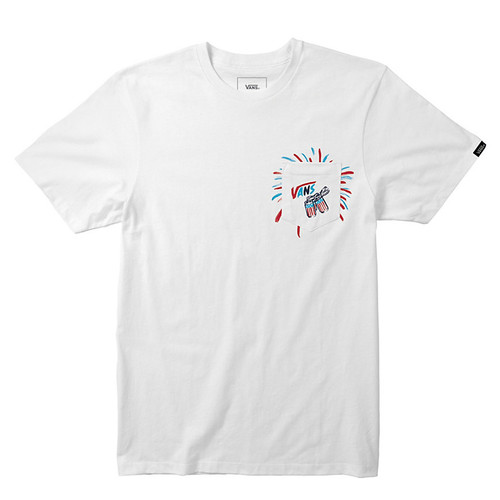 Vans Tee Shirt - Uncle Slam Pocket - White