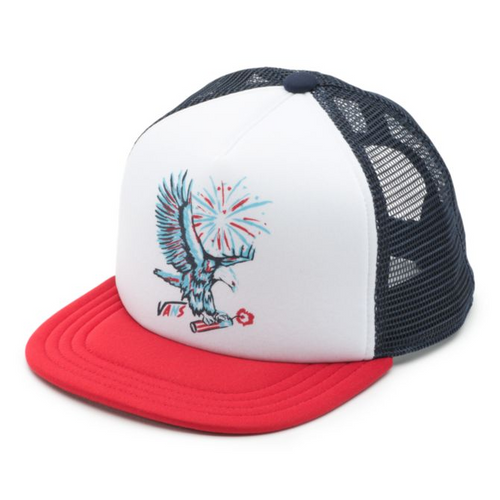 Vans Hat - Walsh Trucker - White/Racing Red