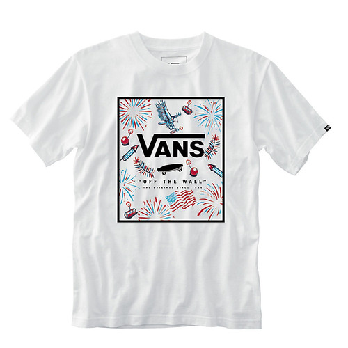 Vans Boy's Tee Shirt - Print Box - USA