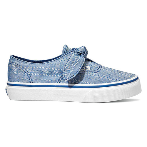 Vans Kid's Shoes - Authentic Knotted - Lace Chambray/True Blue/White