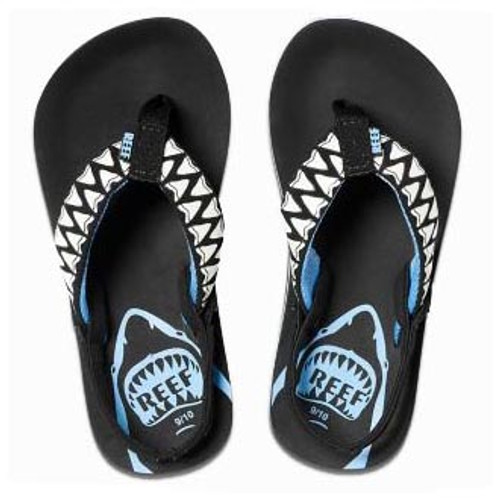 Reef Kid's Flip Flops - Ahi Color Change - Blue Shark