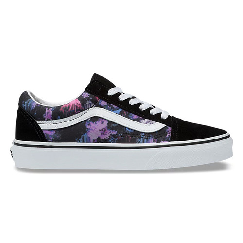 Vans Shoes - Old Skool - Black/White/Floral