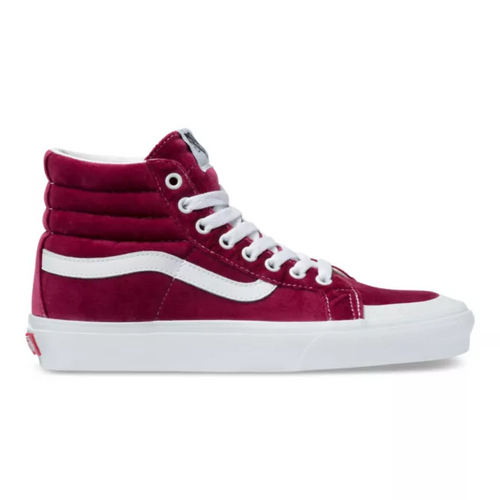 Vans Women's Shoes - Sk8-Hi Reissue 138 - Velvet/Beet Red/True White