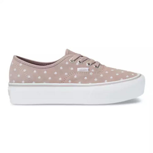 Vans Women's Shoes - Authentic Platform 2.0 - Suede/Polka Dot/Grey/White