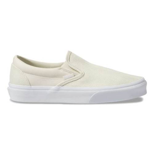 Vans Women's Shoes - Classic Slip-On - Herringbone/Asparagus/White