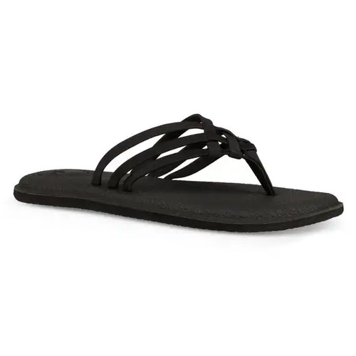Sanuk Women's Flip Flop - Yoga Salty - Black (1103940-BLK)