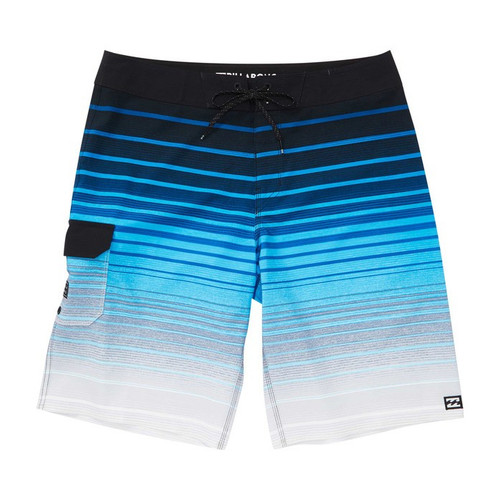 Billabong Boy's Boardshorts - All Day Stripe Pro - Blue