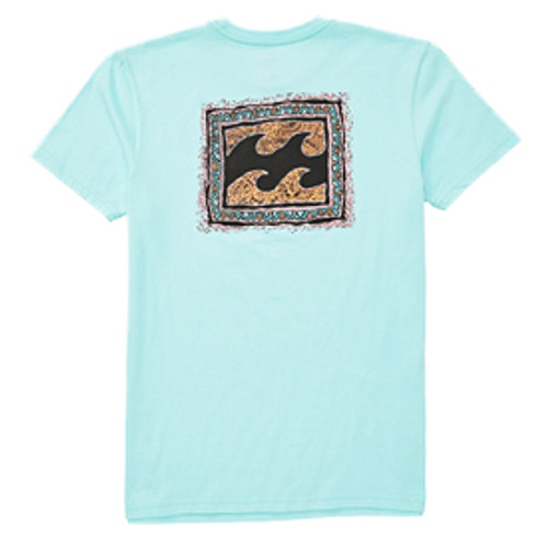 Billabong Boy's Tee Shirt - Warp - Spearmint